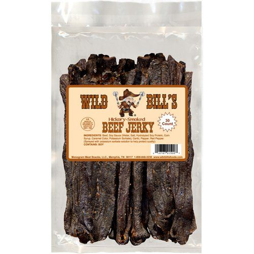Wild Bills Hickory Smoked Beef Jerky Strips, 30-Count, 15-Ounce: Amazon.com: Grocery & Gourmet Food