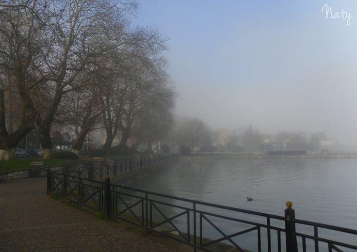 Misty lake of Ioannina