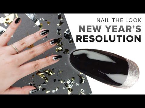 holiday glitter and reverse french nail art from the opi