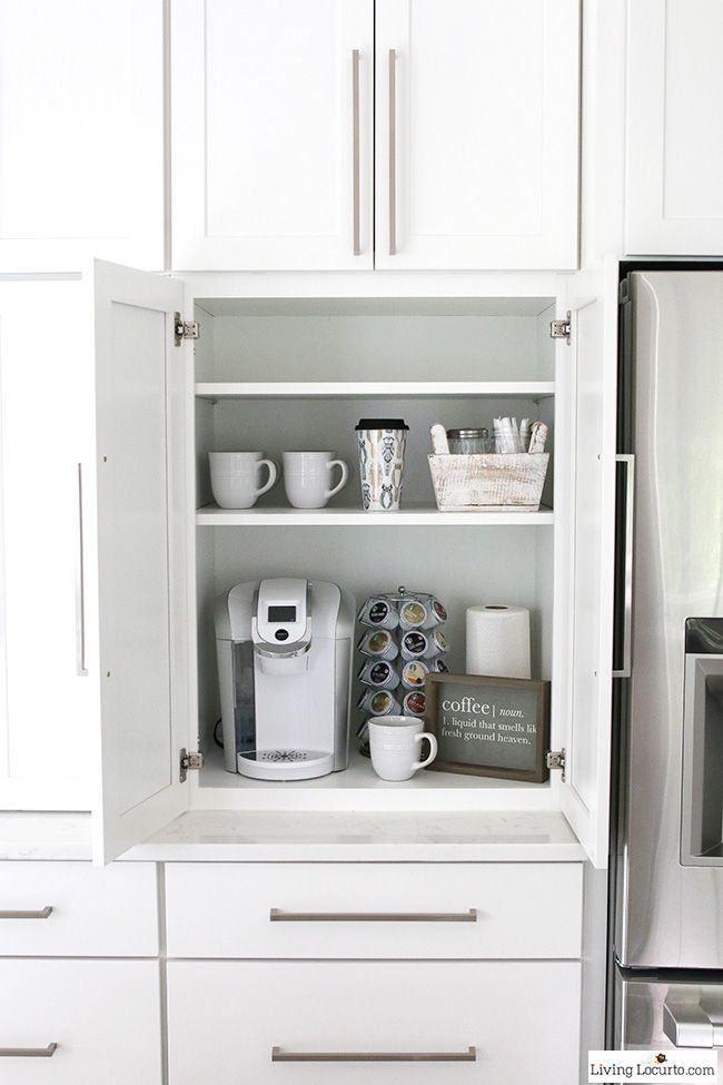 25 best ideas about appliance cabinet on pinterest for Kitchen coffee bar cabinets