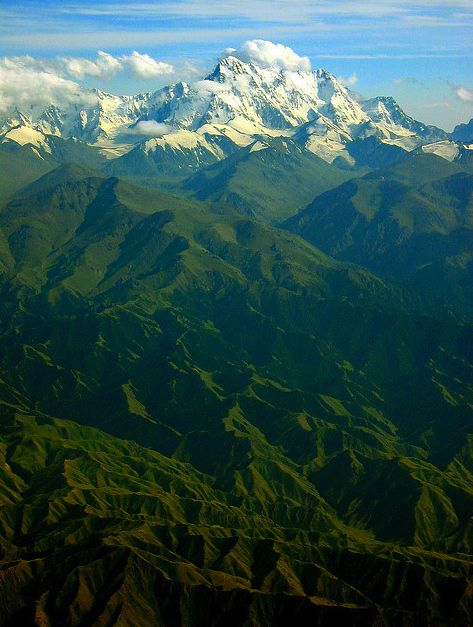 100 Incredible Views Out Of Airplane Windows - Mount Bogeda, China
