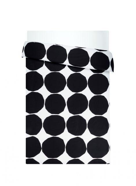 Kivet-tuplapussilakana (valkoinen,musta) | Sisustustuotteet, Makuuhuone, Pussilakanat | Marimekko