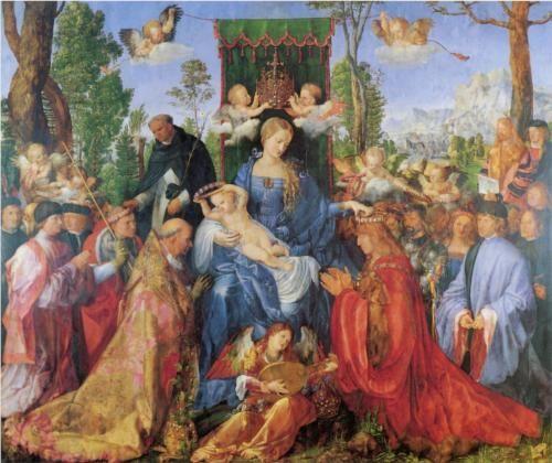 The Lady of the festival du Rosaire, 1506 - Albrecht Durer (German, 1471-1528) Northern Renaissance