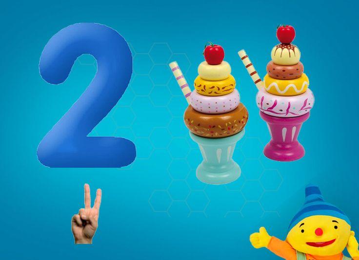 Rekenprikkels - 2 ijsjes