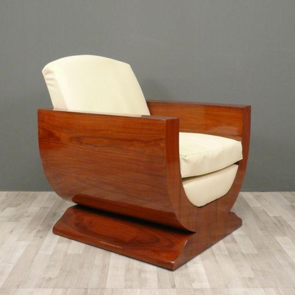 braun art Deco Stil art deco einrichtung sessel