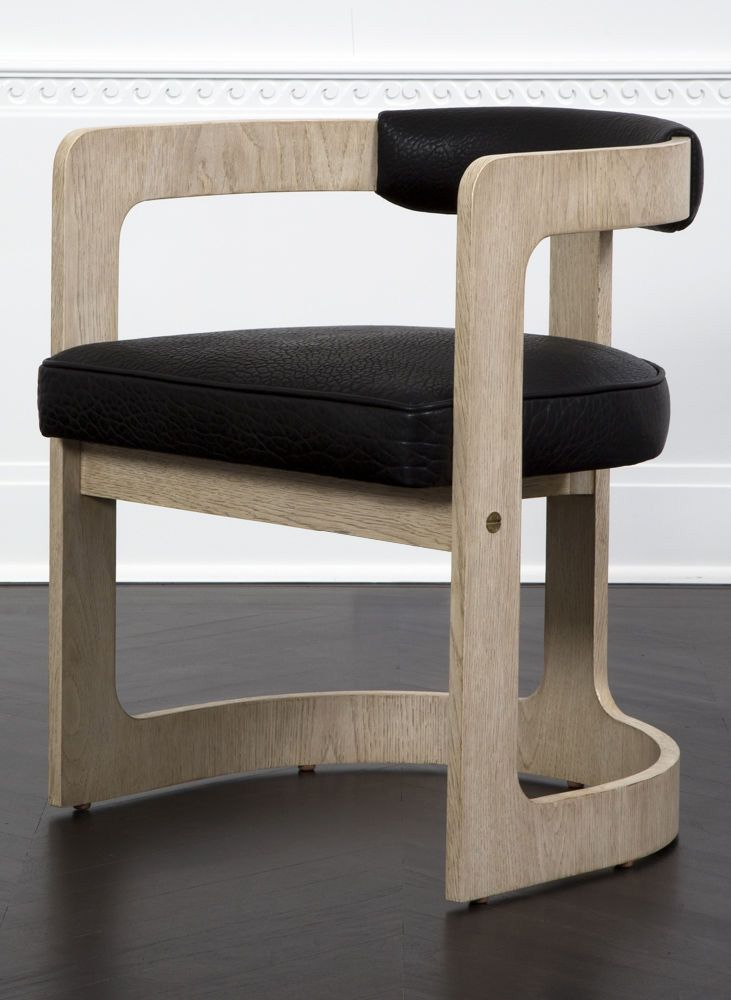 KELLY WEARSTLER | ZUMA DINING CHAIR. Constructed From Bent Plywood  Upholstered In Supple Textured Leather