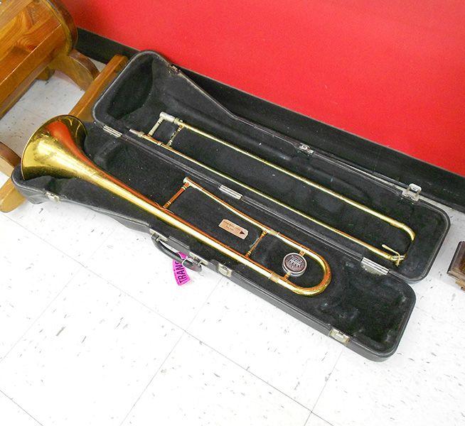 King trombone in case