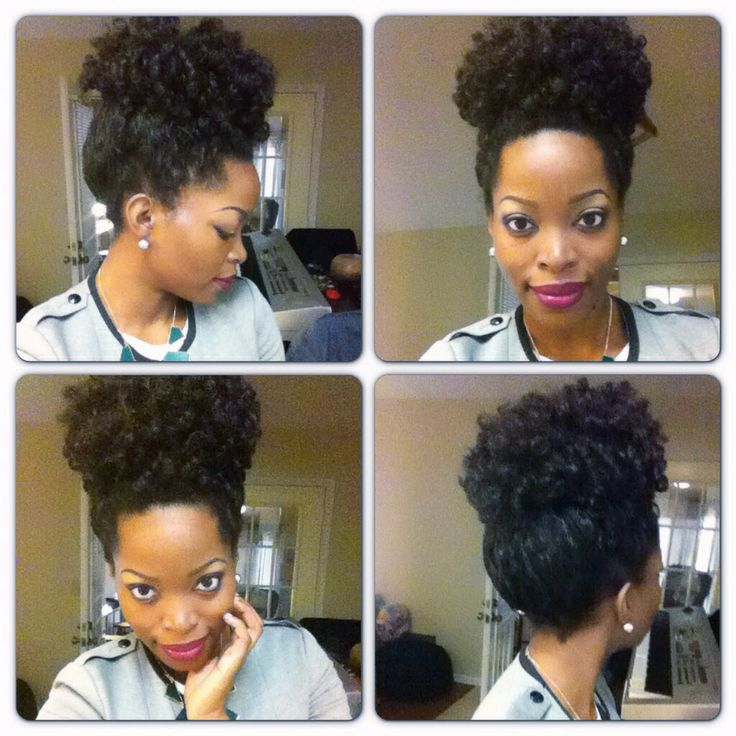 Crochet Hair In A Bun : High puff with crochet braids/ natural hair protective style, THIS IS ...