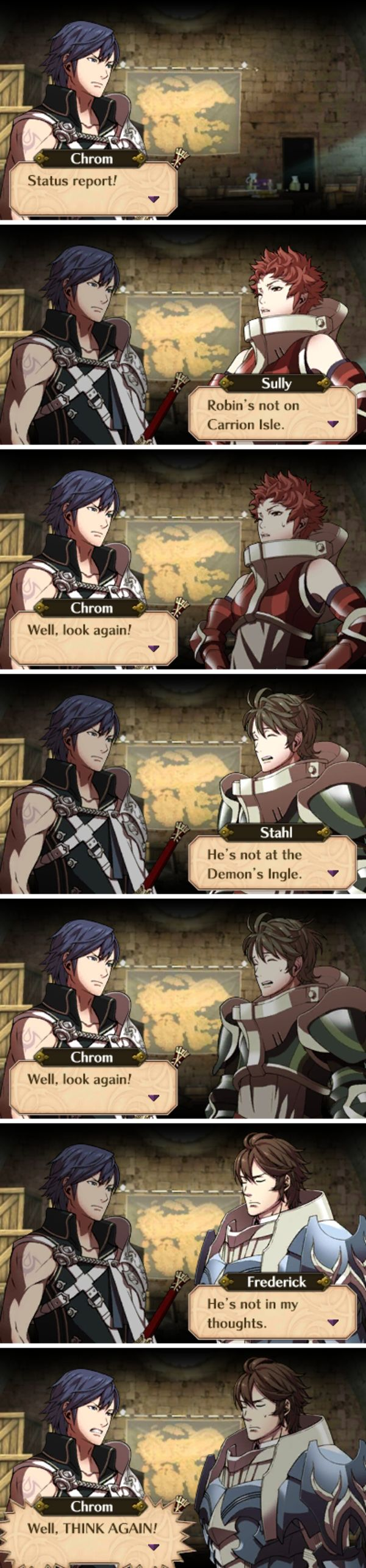 TMW your tactician done disappeared on you after the battle for the fate of the world. (Fire Emblem Awakening)