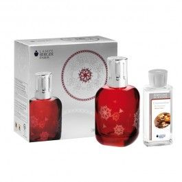 Simple Limitied Edition Christmas Gift Set in Red Lacquered Glass with Provence Treats NEW Christmas Fragrance from Lampe Berger
