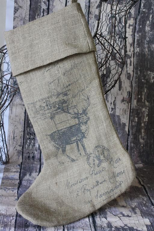 It would be neat to transfer an Elk picture onto a stocking