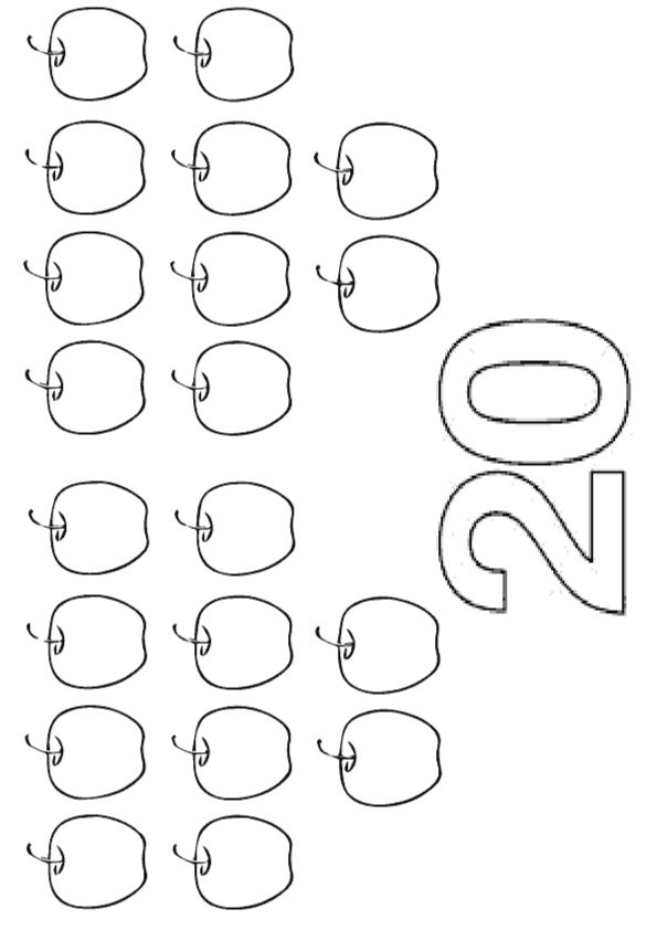 21 Easy To Learn Number Coloring Pages For Your Little ...