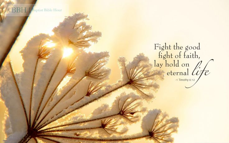 Wallpaper Quot Fight The Good Fight Of Faith Lay Hold On