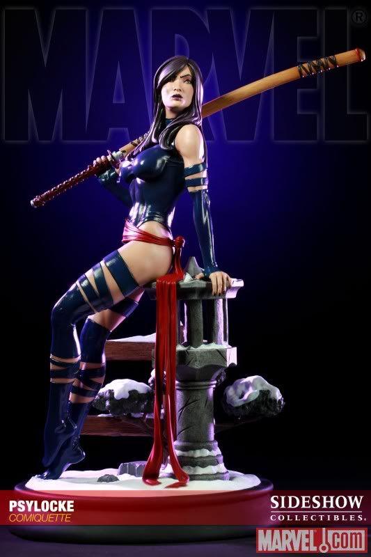 Psylocke   ... Psylocke, ganha sua própria estátua pela Sideshow. Uma amostra da