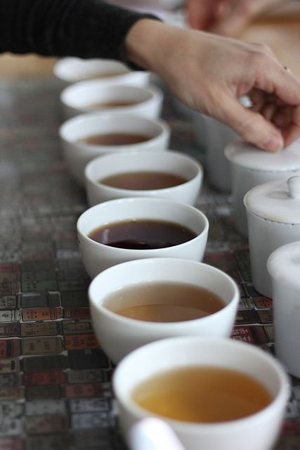 Tea tasting party idea! (or spiked cider tasting party for New Year's)