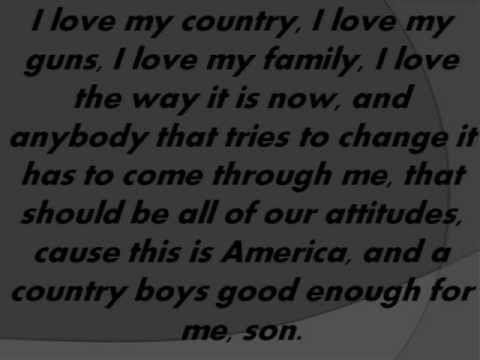 COUNTRY BOY - aaron lewis- with LYRICS