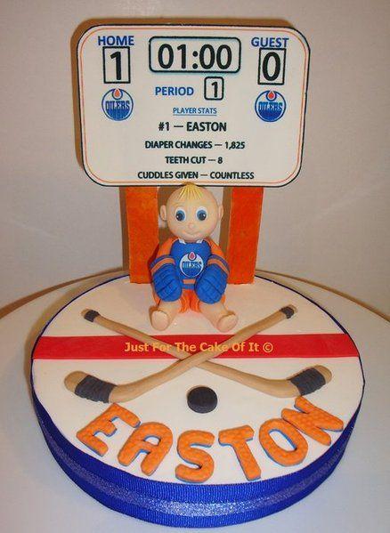 Baby's 1st Hockey Cake Topper