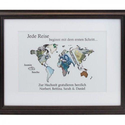 Geldgeschenk Weltkarte                                                                                                                                                                                 Mehr