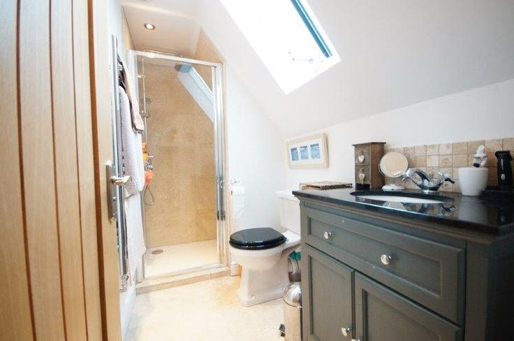 Tiny ensuite! All furniture from bathstore