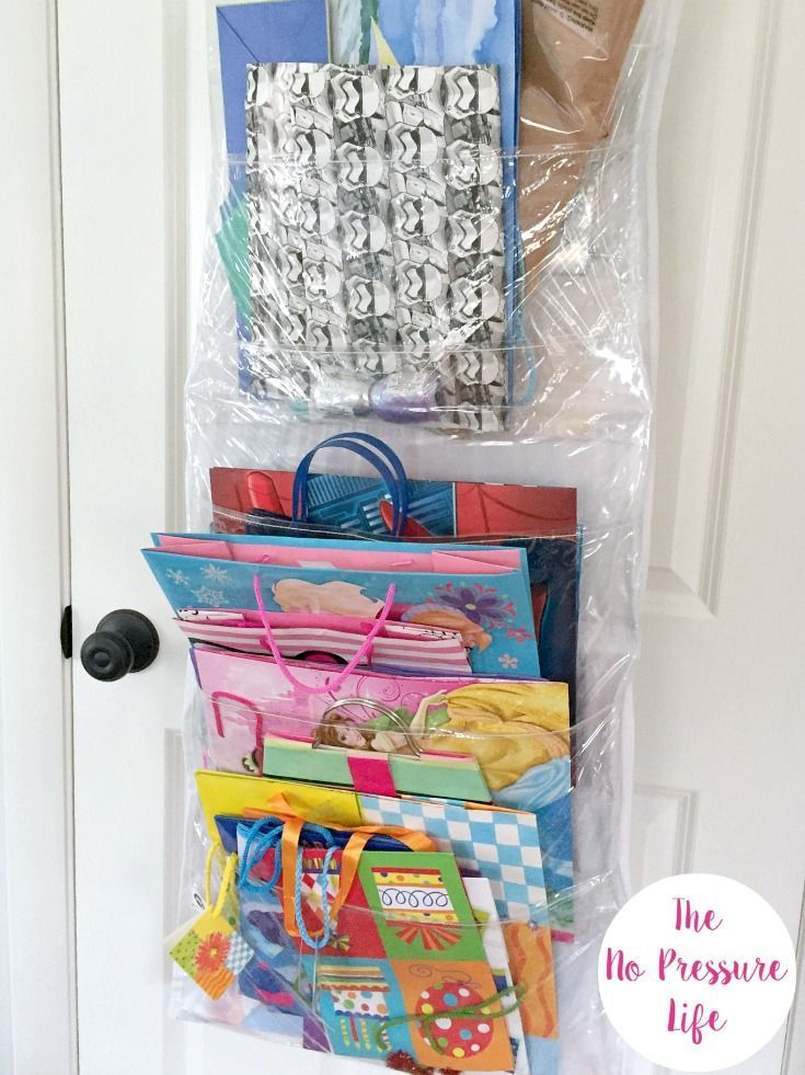 I Love This Hanging Gift Bag Organizer It Keeps Gift Bags Tissue