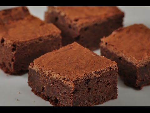 Fudgy Chocolate Brownies Recipe Demonstration - Joyofbaking.com - YouTube