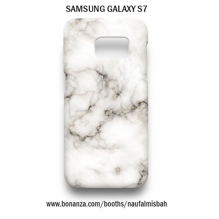 White Marble Samsung Galaxy S7 Case Cover Hardshell