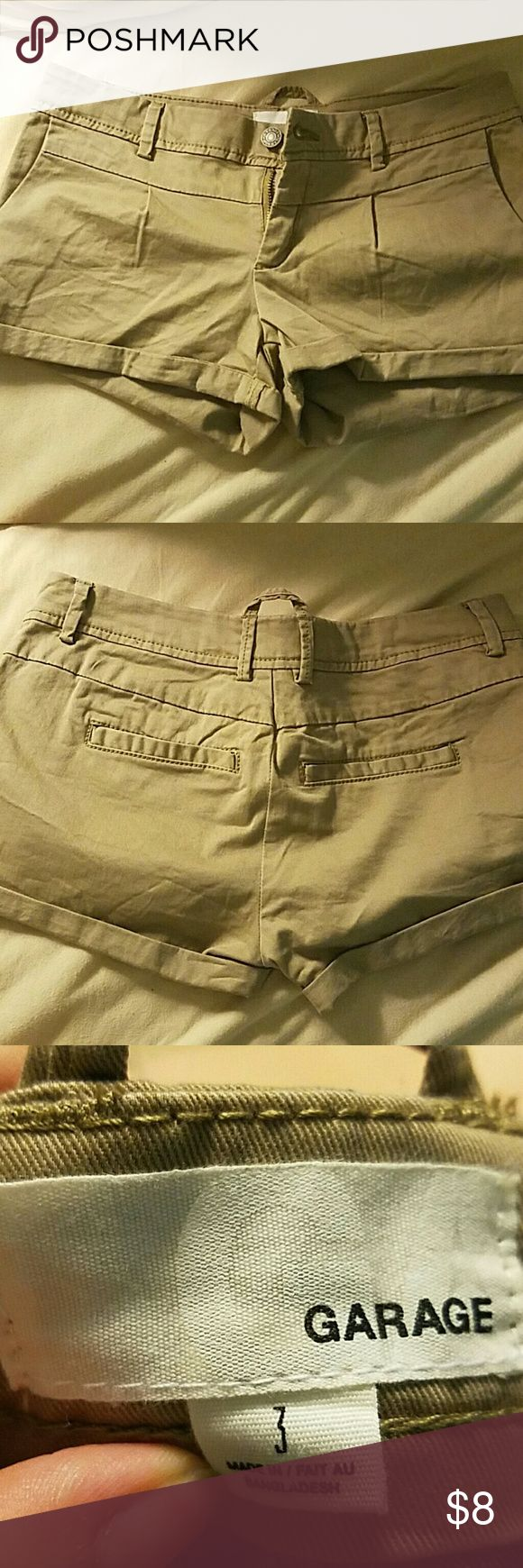 Garage Khaki/brown shorts Never worn! Great condition Garage Shorts