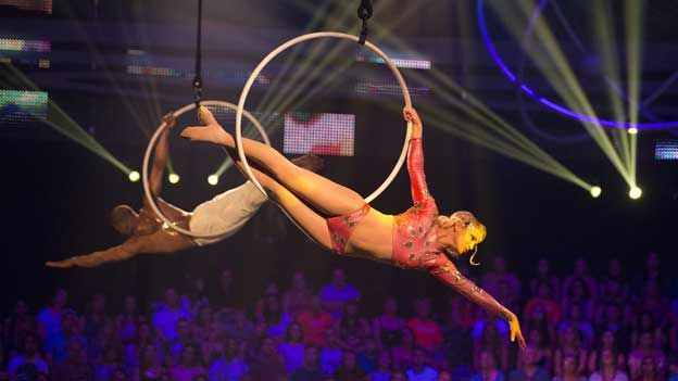 Sarah Harding performs with her Tumble partner Leon Fagbemi