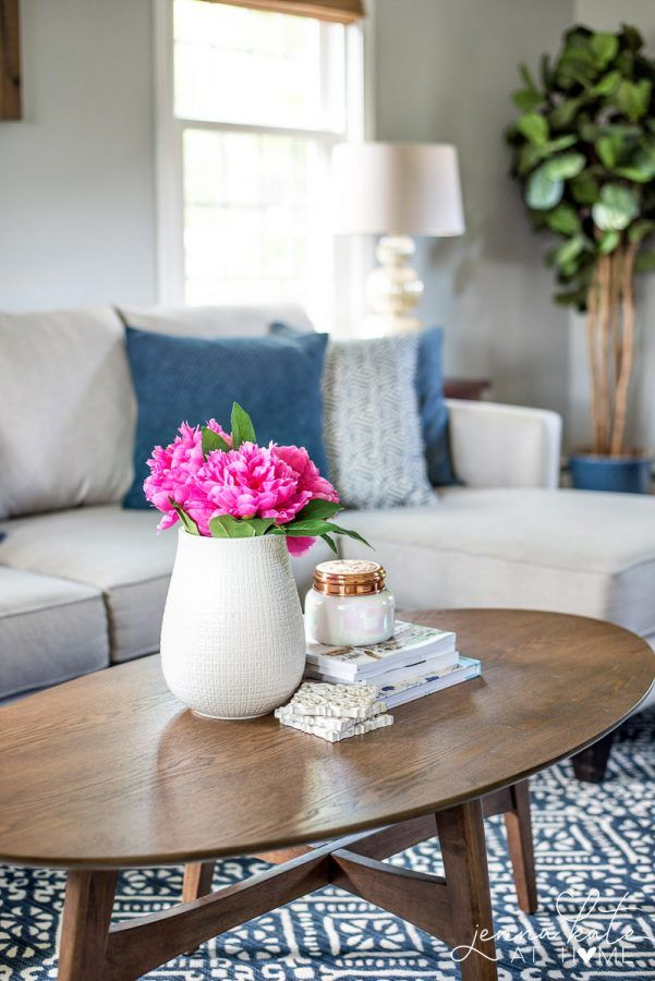 Coastal Inspired Summer Living Room Awesome DIY Projects