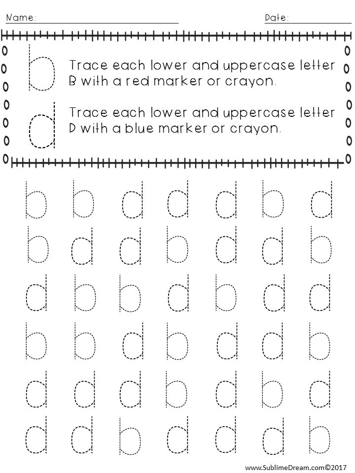 friday freebie b d letter reversals reversals free kindergarten worksheets phonics. Black Bedroom Furniture Sets. Home Design Ideas