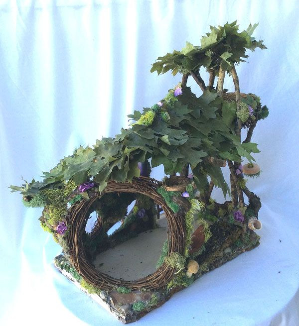 Newest fairy house from Forest Whimsy (forstwim@sonic.net)