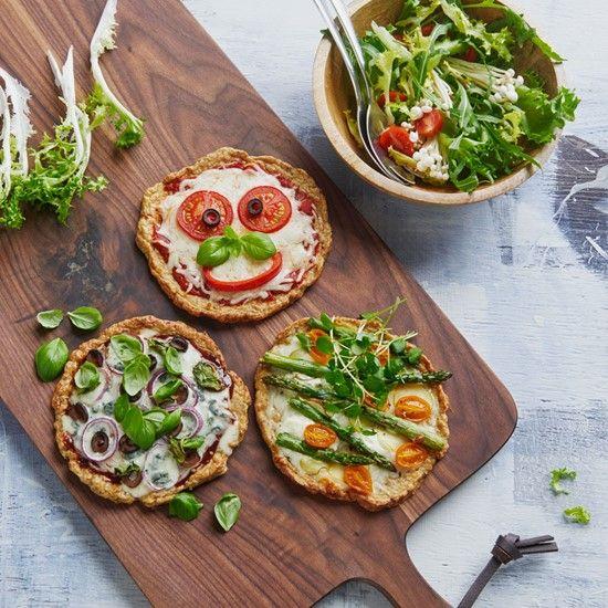 """Palæo pizza med kyllingebund – """"Chicken meatza"""" - hakket kylling"""