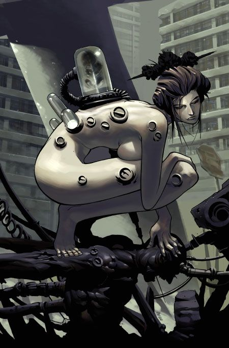 Darkminds Cover Art by Pat Lee...amazing art here. Even though this is American its still manga.