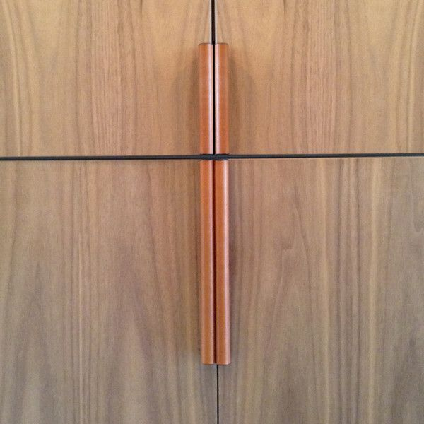 robe and store cupboard doors leather recessed pulls