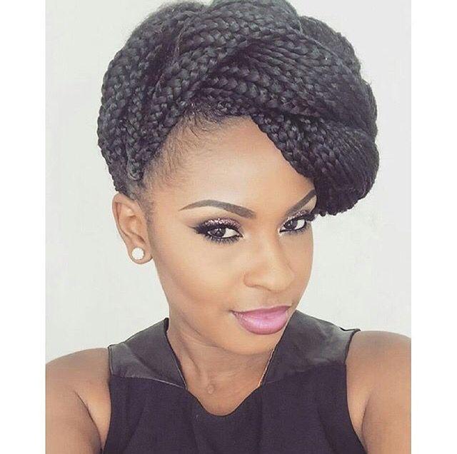 Phenomenal 1000 Ideas About Box Braids Updo On Pinterest Box Braids Short Hairstyles For Black Women Fulllsitofus