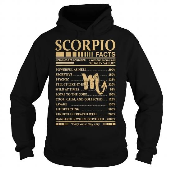 Awesome Tee SCORPIO FACTS T shirt