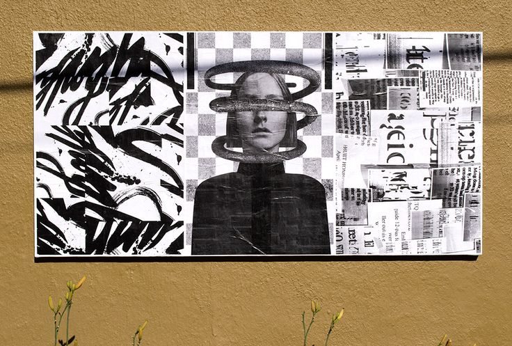 "From left to right: Mary Yudina, Janneke Meekes, and Sun Jaegal with Ryan Smith, Ficciones Typografika 608-610 (24""x36""). Installed on August 12, 2014. More: http://ficciones-typografika.tumblr.com/"