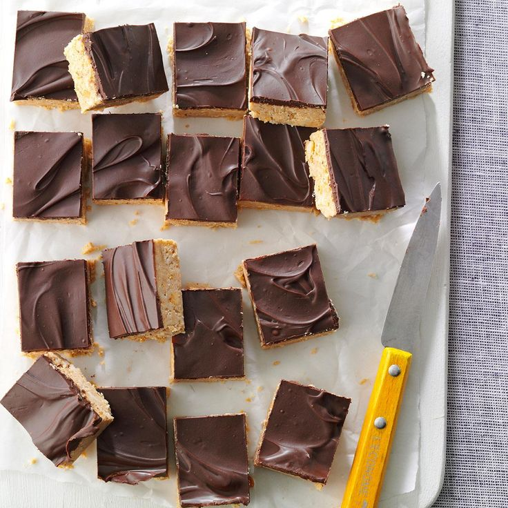 Chocolate Peanut Treats Recipe -When I was in high school, I took these sweet and crunchy squares to bake sales— and they were the first to sell out. I still make them for family and friends who love the classic combination of chocolate and peanut butter.