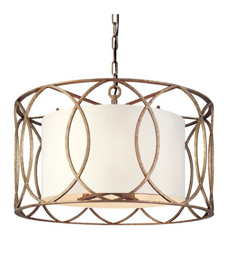 Troy Lighting Sausalito 5 Light Chandelier in Silver Gold F1285SG (but with the drum shade taken out)
