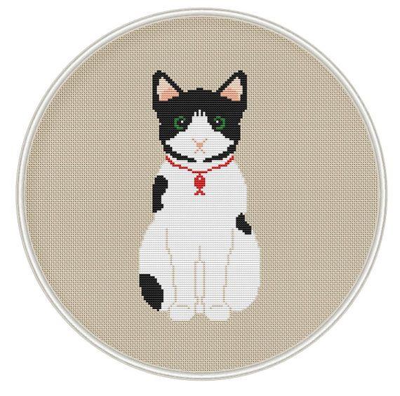 Cute Cat Cross Stitch Pattern  Instant от MagicCrossStitch на Etsy