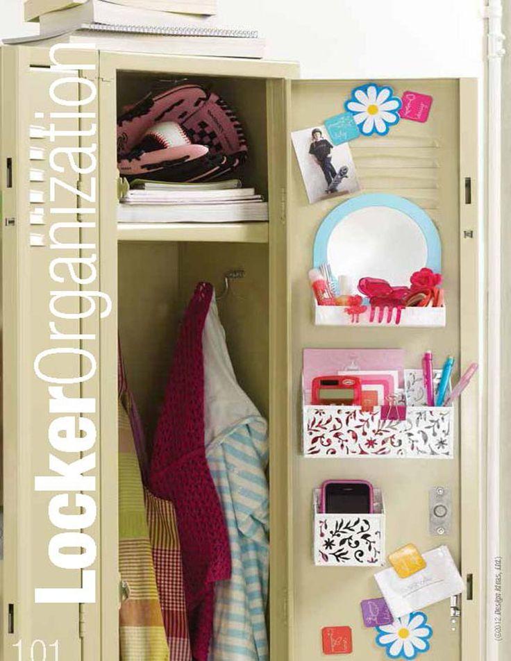 ... Locker Neat, Locker Ideas, High School, Locker Diy, Diy School Locker
