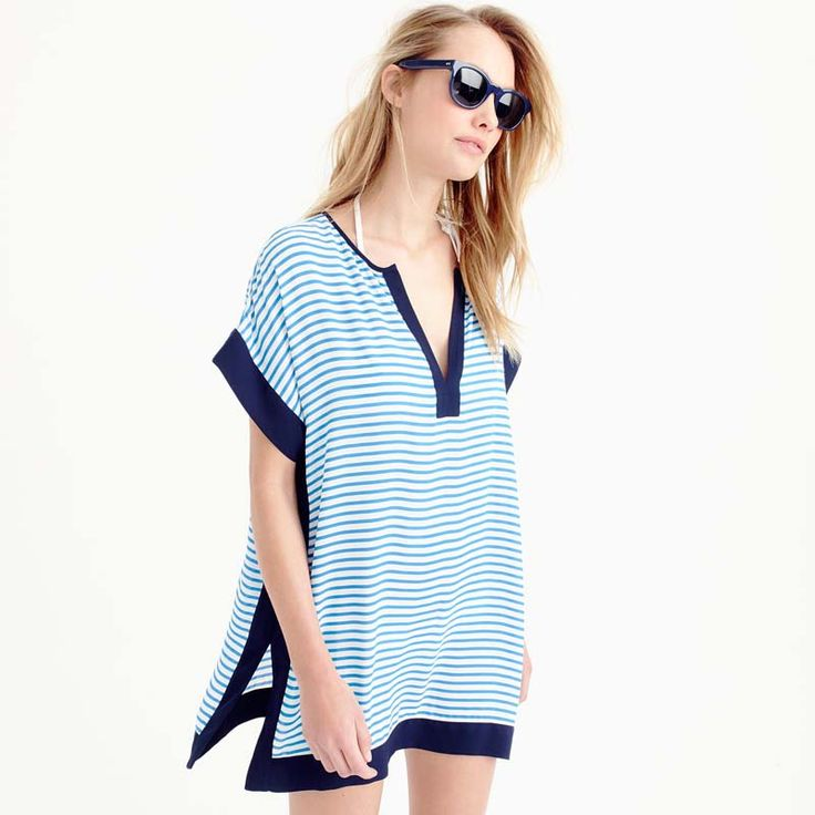 NIUMO New spell color stripe Beach dress vacation beach Cover ups sun protection clothing swimwear  swimwear outside smock woman