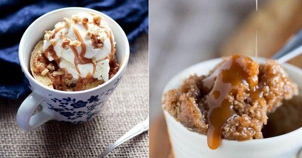 Rien à manger pour le dessert ? Réalisez un mug cake pommes-caramel (et faites un malheur !)