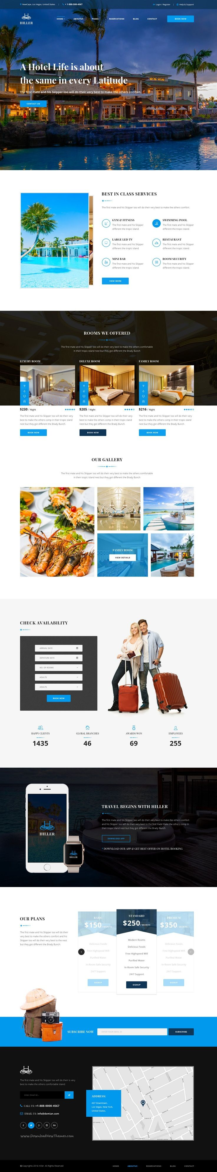Hiller is stunning premium #PSD Template for #hotel #booking website with 3 amazing homepage and 17 organized 17 PSD pages download now➯ https://themeforest.net/item/hiller-hotel-booking-psd-template/16978451?ref=Datasata