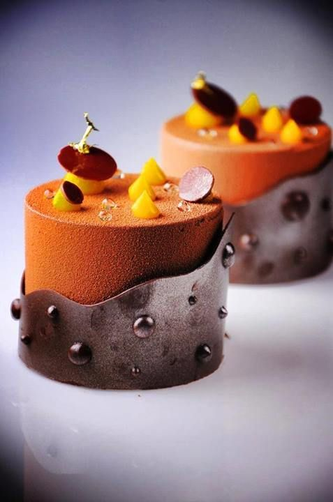 Hazelnut crispy biscuit, milk chocolate mousse, passion fruit jelly - DHARA DHEVI CAKE SHOP, Chiang Mai, Thailand
