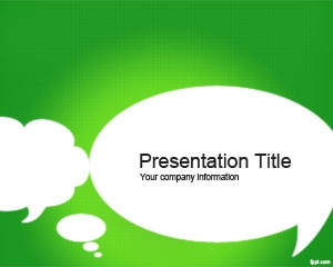 Free social media template with green background and bubbles for conversation or social trends