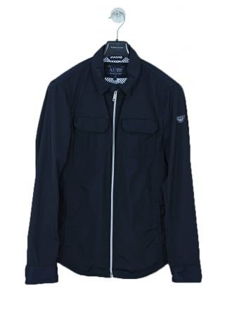 be6e8a32b Armani Jeans Twin Pocket Zip Through Jacket in Navy - Northern Threads    NEW IN   Armani jeans, Jackets, Pocket