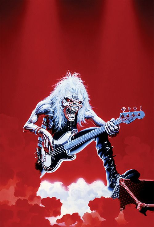 Eddie. One of my favourite bands awesome album cover illustration... Thnx İM...