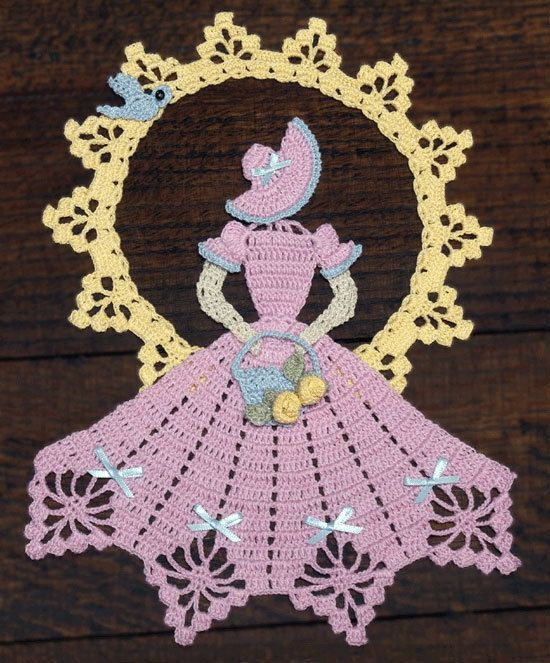 Spring is in the Air Crinoline Girl Doily Crochet Pattern