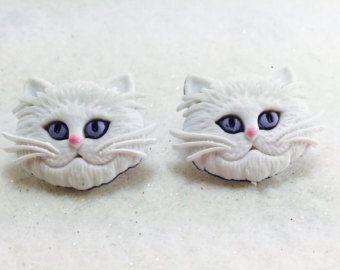Sterling Silber Katze Ohrringe Tier-Ohrringe Katze Schmuck von Oore